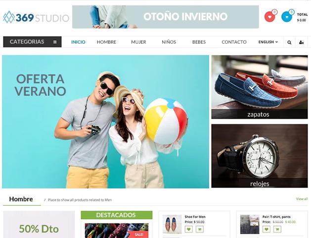 pagina web con carro de compra